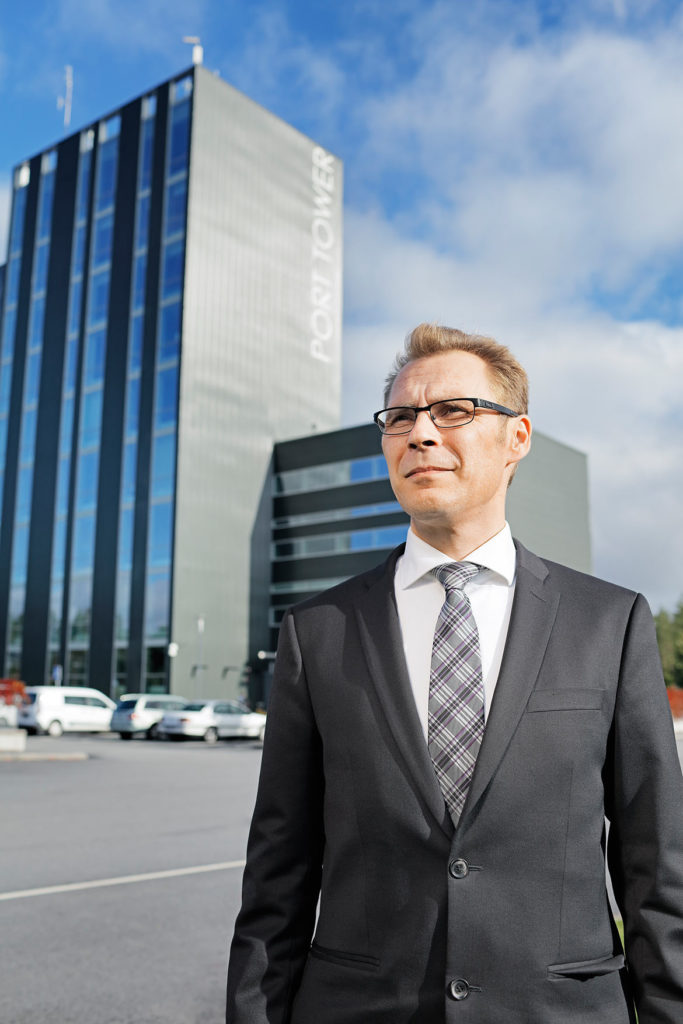 """""""Cooperation with business and the Municipality of Kokkola is a major factor in the Kokkola Industrial Park's success,"""" says Ville Honkala."""