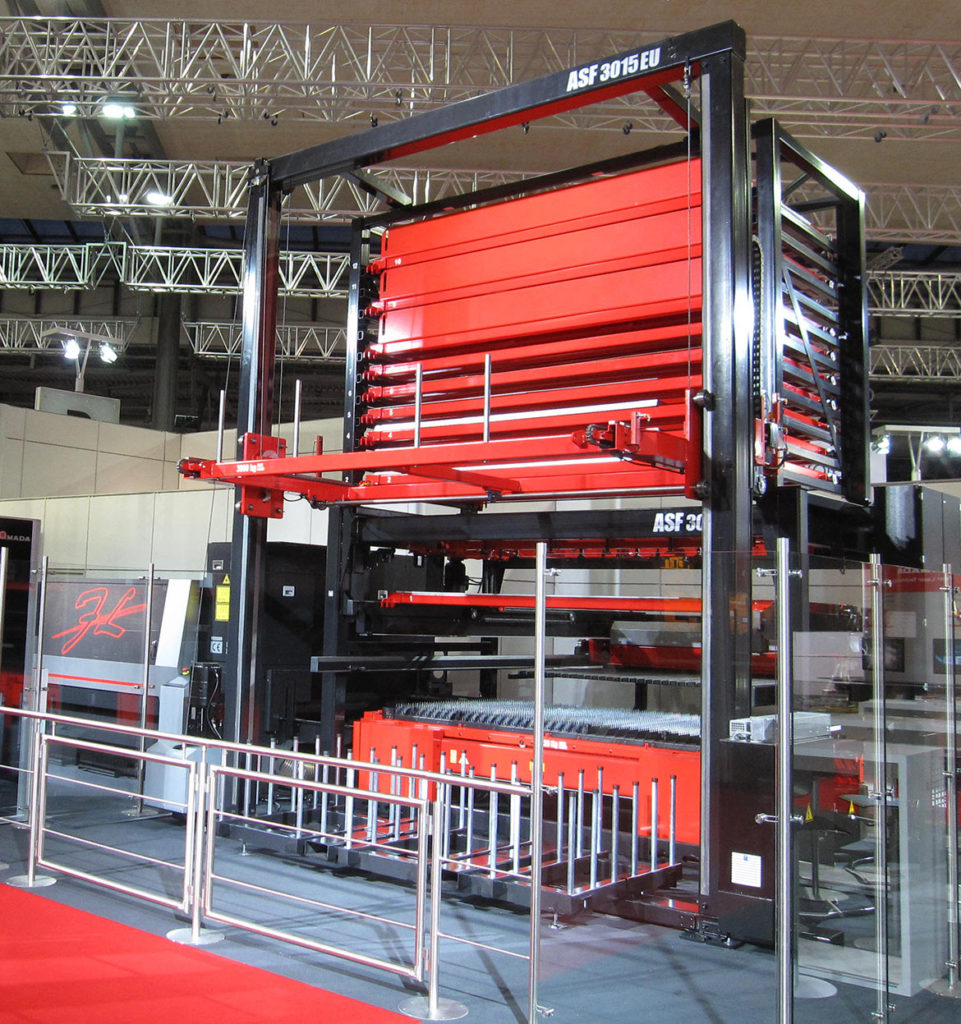 What makes LKI's products strong are their simple, but innovative solutions. The products are used in the manufacturing industry and are sold under the Amada brand.