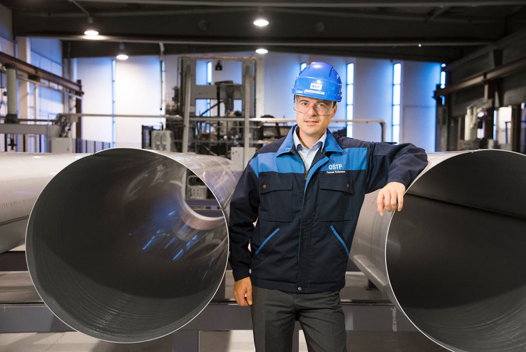 """""""During 2016 a new production line for smaller pipes will become operational,"""" says Thomas Pettersson."""