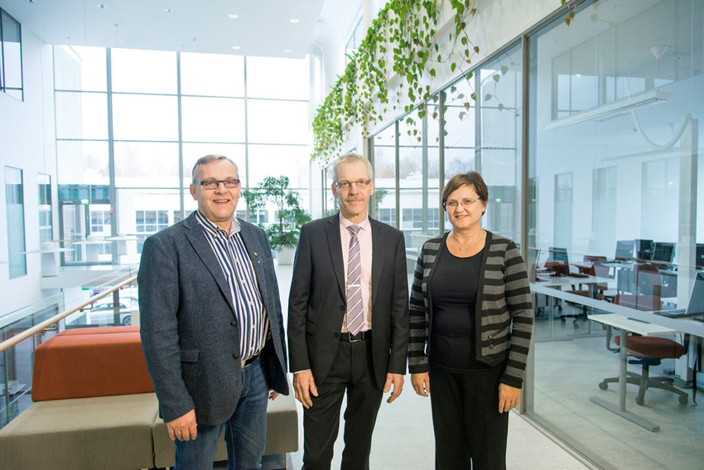 """At Optima youth and adult students are mixed to create an educational, positive learning environment,"" say Rune Nyman, Rabbe Ede and Tiina Sjölund."